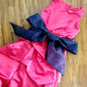 Other - Sleeveless GirlFormal dress red black bow size 4